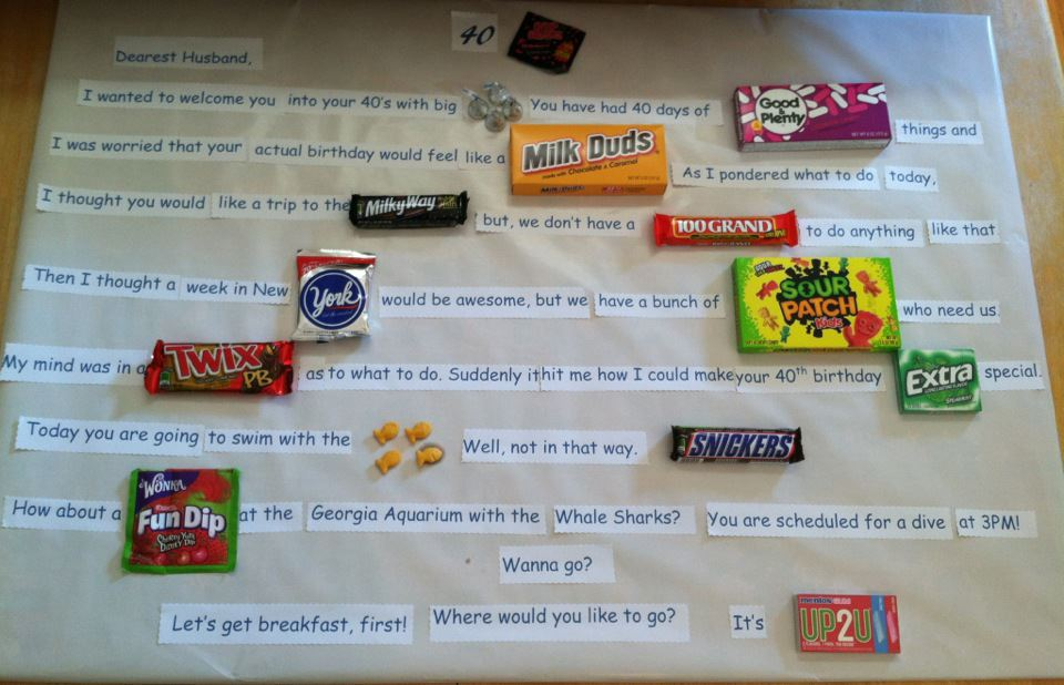 40 candy bars for birthday poster | just b.CAUSE